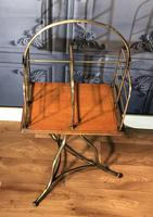 Victorian Brass & Oak Revolving Bookcase (2 of 9)