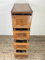 Antique Oak Four Drawer Filling Cabinet (4 of 12)
