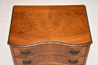 Antique Figured Walnut Side Table with 3 Drawers (7 of 7)