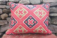 Early 20th Century, Antique Swedish Woven Textile, Geometric Patterned 're-stuffed cushions' (20 of 20)
