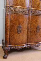 Antique Impressive Burr Oak Cocktail Drinks Cabinet (12 of 16)