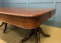 George IV Mahogany Twin Pillar Dining Table (11 of 15)