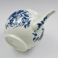 Large First Period Worcester Porcelain Mansfield Pattern Teapot c.1775 (4 of 15)