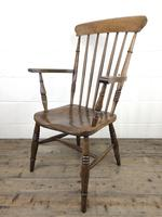 Antique 19th Century Beech & Elm Windsor Armchair (9 of 13)