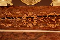 A Very Stylish Charles X Rosewood/Palisandre Inlaid With Lemon Wood and Ormolu Portico Clock Circa: 1830 (6 of 15)