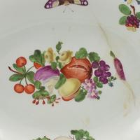Chelsea Porcelain Feather Edged Large Oval Fruit Dish Gold Anchor (9 of 10)