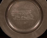 Set of 4 Pewter Plates with Engraved Decoration (4 of 7)