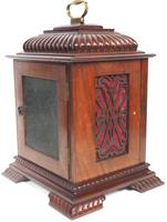 Vintage English Westminster Chime Bracket Clock – Solid Mahogany Musical Mantel Clock (7 of 10)