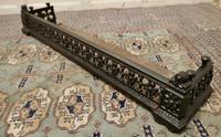 Victorian Arts & Crafts Cast Iron Fender Decorated with Sun Flowers (4 of 5)