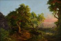 Good Quality 19th Century Oil on Board, Wooded Landscape (2 of 6)