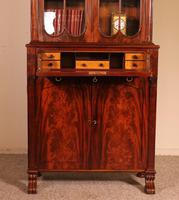 Small English Bookcase With Secretaire From The 19th Century In Mahogany (8 of 11)