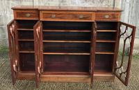 Wonderful Edwardian Inlaid Mahogany Four Door Breakfront Bookcase by Maple & co (2 of 14)