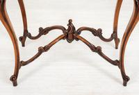 Pretty French Walnut Occasional Table (3 of 10)
