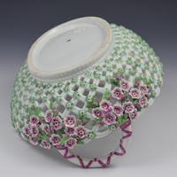 Fine Large Chelsea Red Anchor Porcelain Basket c.1750-1758 (16 of 18)