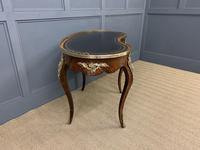 Victorian Kidney Shaped Rosewood Writing Table (10 of 18)