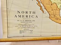 """Large University Chart """"Physical Map of North America"""" by Bacon (2 of 5)"""