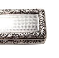 Antique Georgian Sterling Silver Snuff Box  1827 (2 of 11)