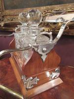 Unusual Victorian Antique Silvered Split Opening Tantalus (6 of 8)