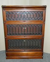 mahogany Globe Wernicke stacking bookcase / sectional bookcase (5 of 7)