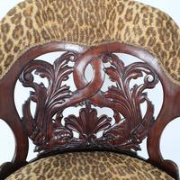 Mid-19th Century French Carved Walnut Desk Chair (5 of 12)