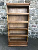 Antique Oak Globe Wernicke Stacking Library Bookcase (6 of 7)