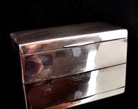 Antique Silver Cigarette Box, Heavy, Edwardian (2 of 13)
