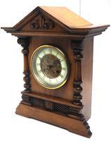 Light Mahogany Bracket Mantel Clock Architectural Striking 8 Day Mantle Clock (2 of 6)