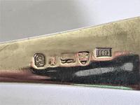Rare 18th Century Silver Soup Ladle with Incuse Hallmark (2 of 4)