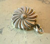 Antique Pocket Watch Chain Fob 1890s Victorian Silver Nickel Puffy Swirl Fob (4 of 7)