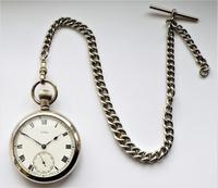 1920s Cyma Pocket Watch with Chain (2 of 5)