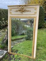French Painted & Gilded Trumeau Mirror (4 of 6)