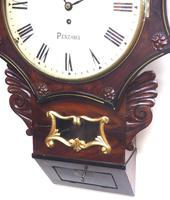 Rare Antique Drop Dial Wall Clock 8 Day Single Fusee Movement Signed J H Harvey Penzance (5 of 12)