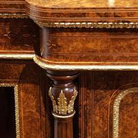 Fine Victorian Inlaid Walnut Credenza (11 of 15)