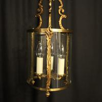 French Gilded Convex Antique Hall Lantern (4 of 7)