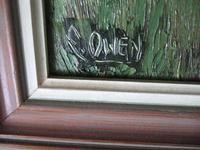 E Owen Contemporary Oil on Board of Welsh Mountainous Landscape (3 of 6)