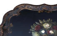Victorian Tilt Top Decorated Black Lacquer Tray Top Coffee Table (11 of 11)