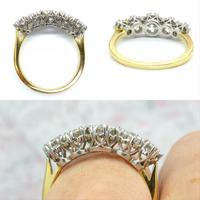 Vintage 18ct Platinum Five Stone Diamond Ring 1.20 Carat ~ with independent valuation (7 of 9)