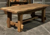 Chunky Bleached Oak Farmhouse Dining Table