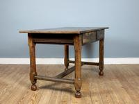 18th Century English Twin Drawer Oak Table (7 of 7)