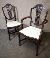 Set of Eight '6+2' Mahogany Dining Chairs in the Hepplewhite Style (5 of 15)
