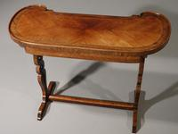 Exceptional Late 19th Century Kingwood Kidney Shaped Writing Table (5 of 6)