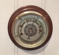 Edwardian Oak Aneroid Barometer c.1901 (8 of 8)