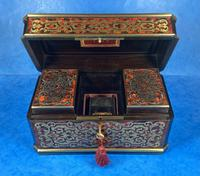Victorian French Tortoiseshell Twin Canister Tea Caddy (10 of 17)