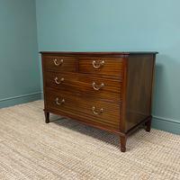 Quality Hepplewhite Design Mahogany Antique Chest of Drawers (3 of 6)