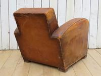 1930s French Leather Club Chair (3 of 13)