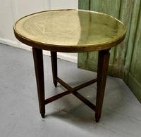 Brass Top Coffee Table or Occasional Table (2 of 5)