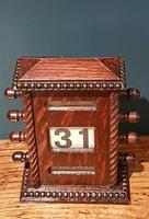 Antique Edwardian Polished Oak Perpetual Desk Calendar (7 of 7)