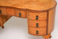 Queen Anne Style Burr Walnut Dressing Table c.1930 (6 of 9)