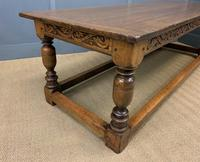 Large Oak Jacobean Revival Refectory Table (10 of 12)