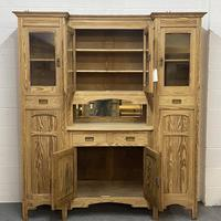 Very large antique dresser with glazed display cupboards (4 of 9)